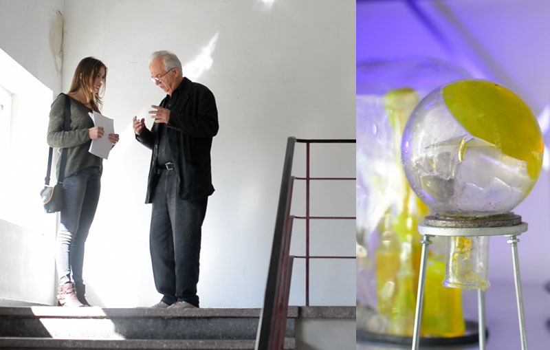 Besuch im Atelier von Helmut Schweizer / Arbeit von Helmut Schweizer