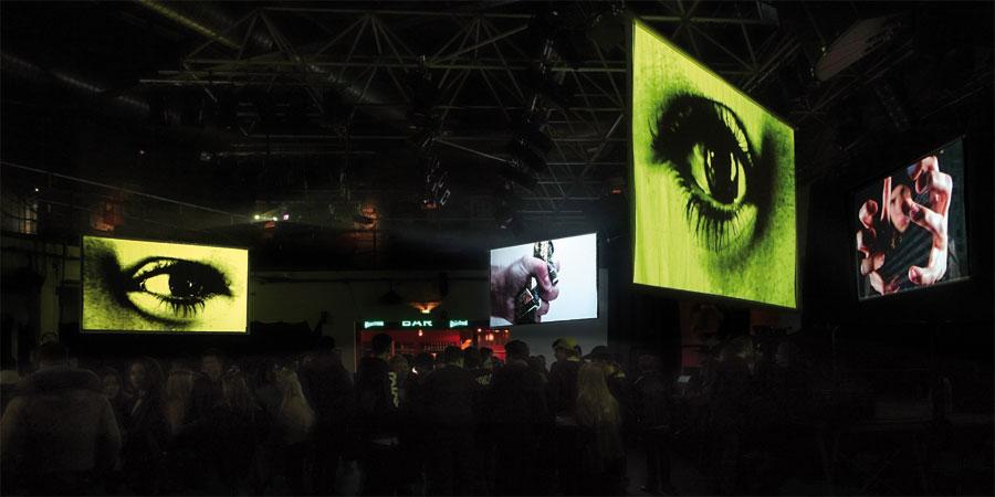 RapLab-Videoinstallation